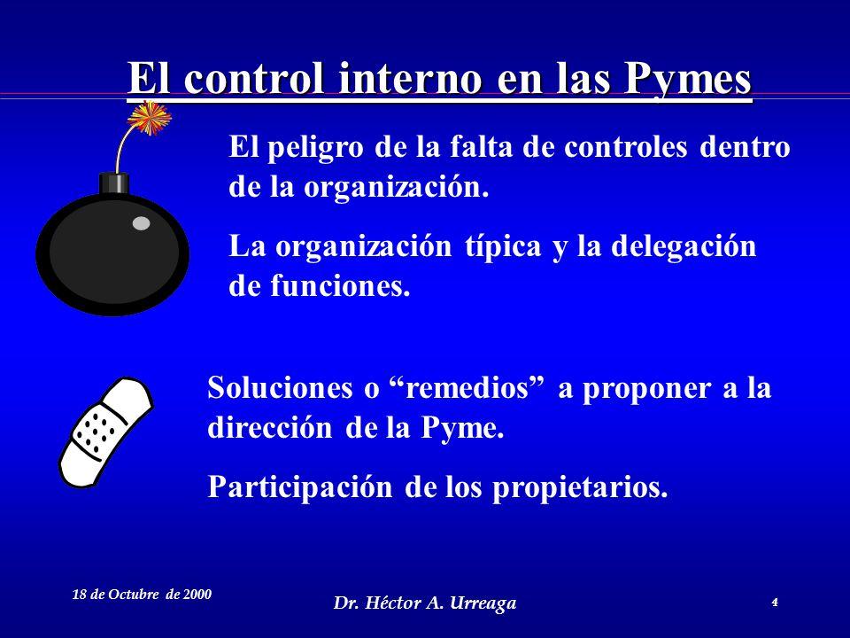 El control interno en las Pymes