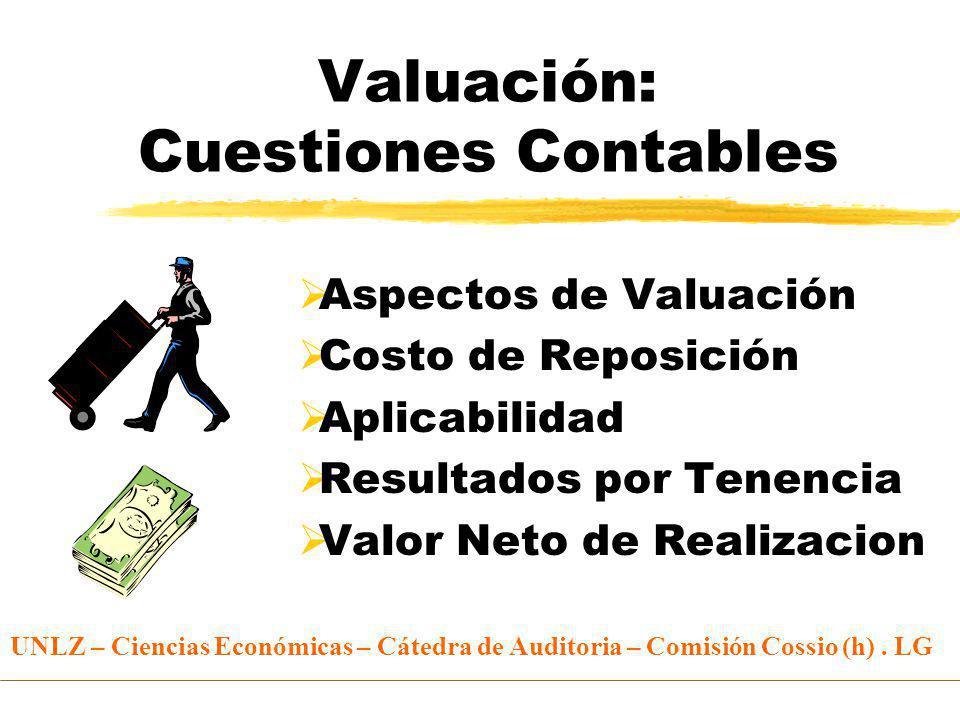 Valuación: Cuestiones Contables