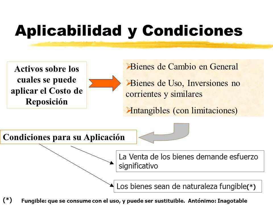 Aplicabilidad y Condiciones