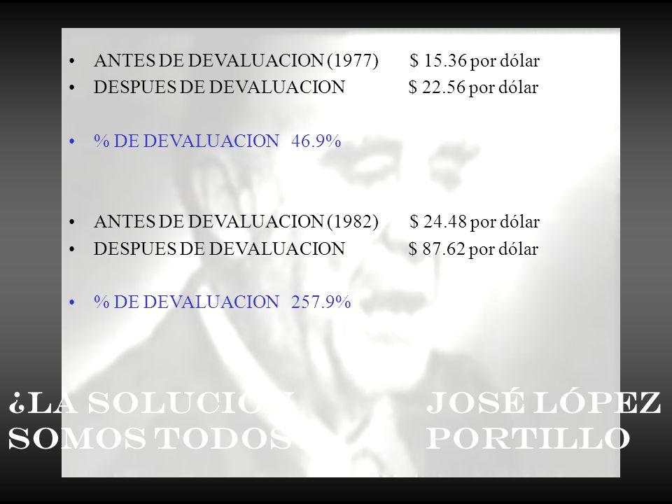 ¿La Solución Somos Todos José López Portillo