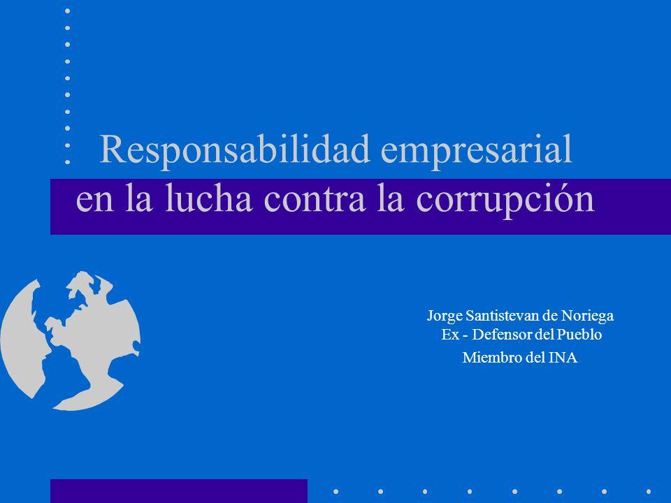 Responsabilidad empresarial en la lucha contra la corrupción