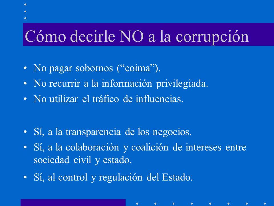 Cómo decirle NO a la corrupción
