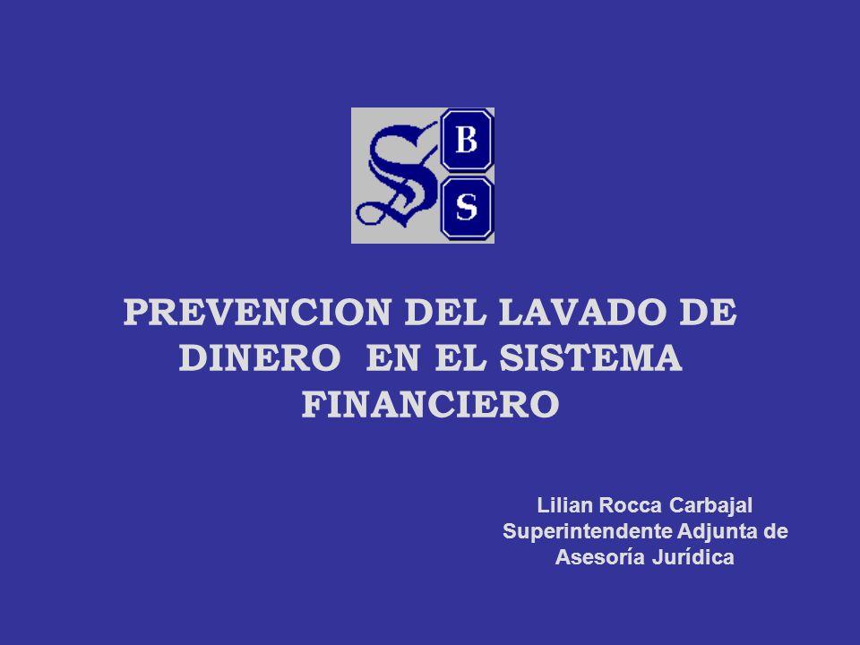 PREVENCION DEL LAVADO DE DINERO EN EL SISTEMA FINANCIERO
