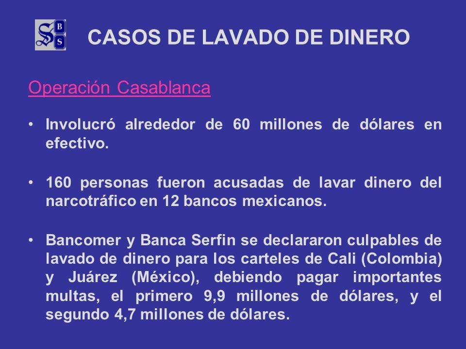 CASOS DE LAVADO DE DINERO