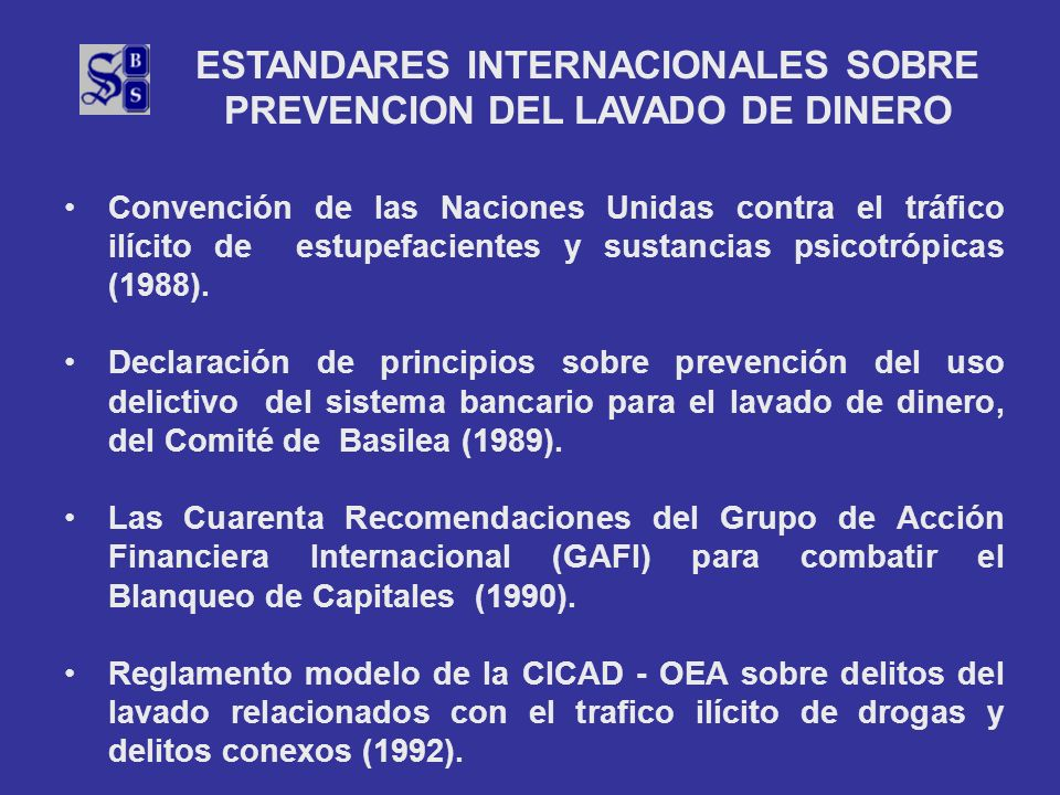 ESTANDARES INTERNACIONALES SOBRE PREVENCION DEL LAVADO DE DINERO