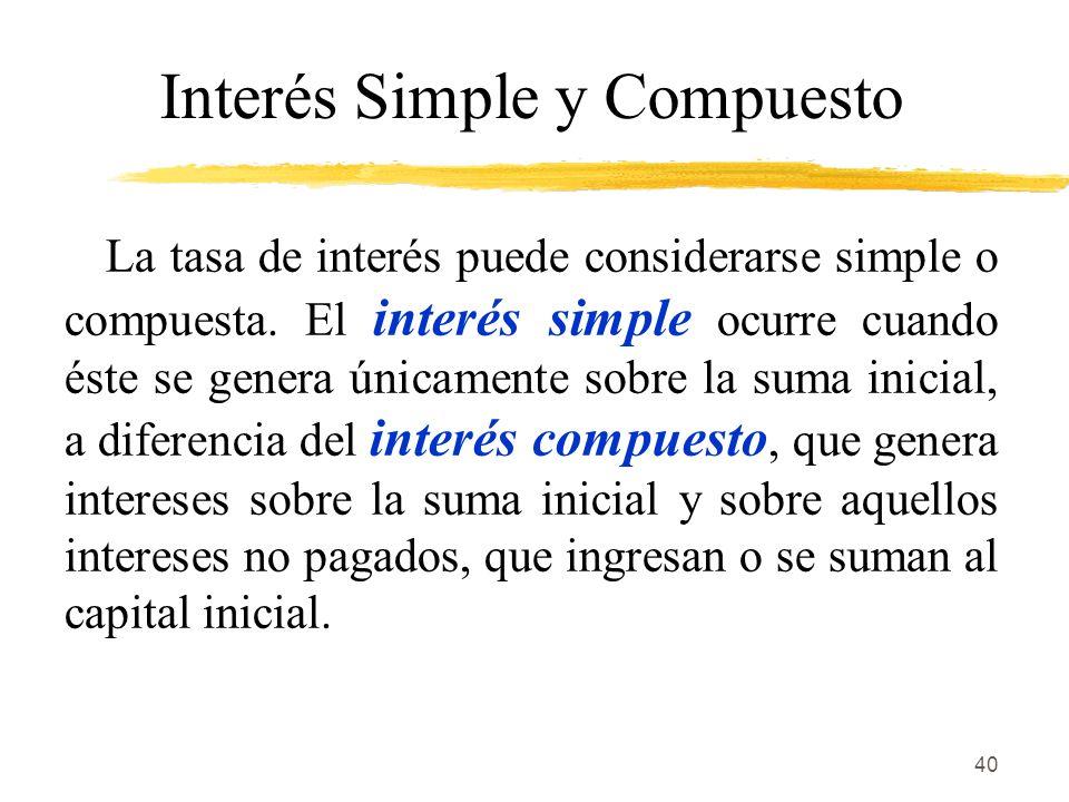 Interés Simple y Compuesto