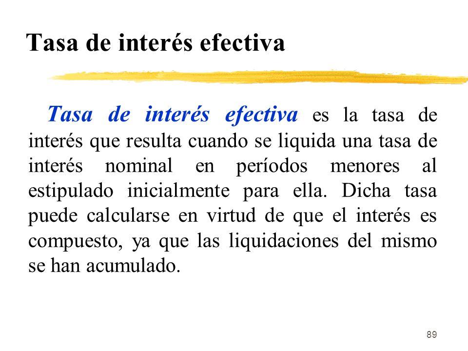 Tasa de interés efectiva