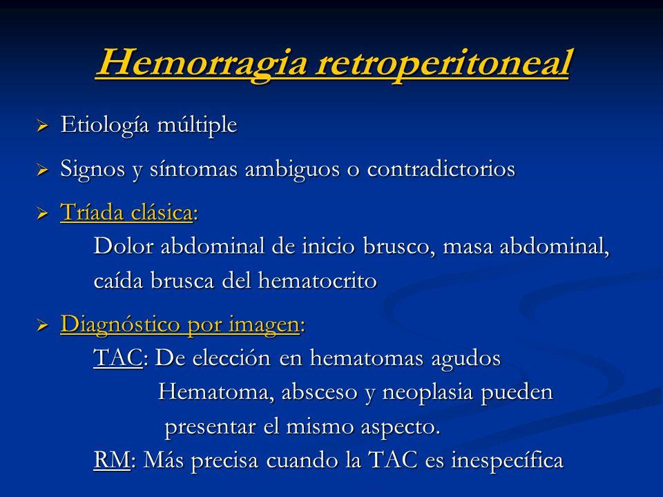 Hemorragia retroperitoneal