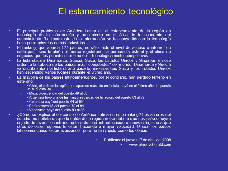 El estancamiento tecnológico