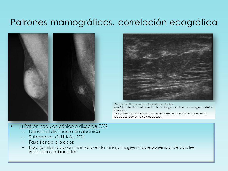 Patrones mamográficos, correlación ecográfica
