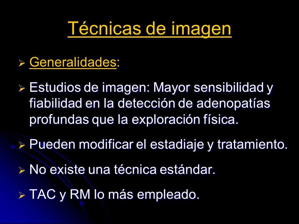 Técnicas de imagen Generalidades:
