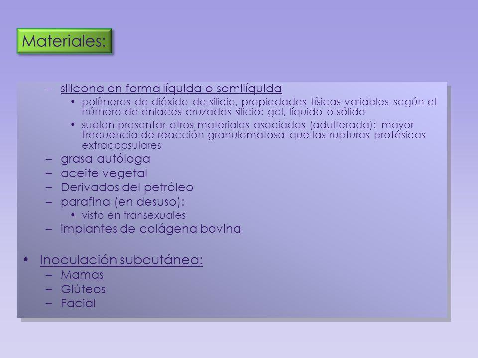 Materiales: Inoculación subcutánea:
