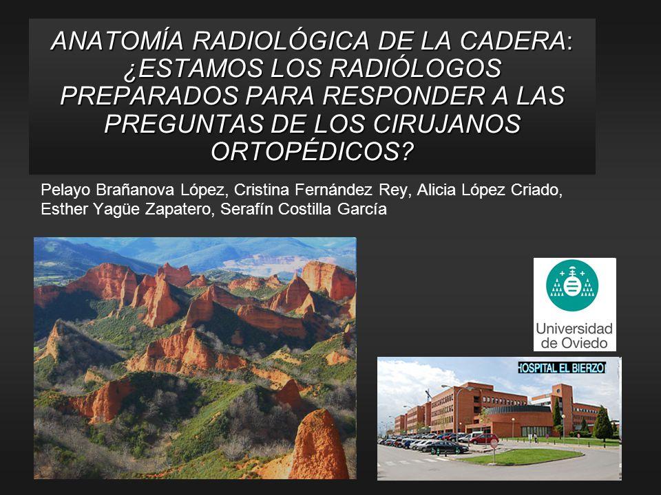 ANATOMÍA RADIOLÓGICA DE LA CADERA: ¿ESTAMOS LOS RADIÓLOGOS PREPARADOS PARA RESPONDER A LAS PREGUNTAS DE LOS CIRUJANOS ORTOPÉDICOS