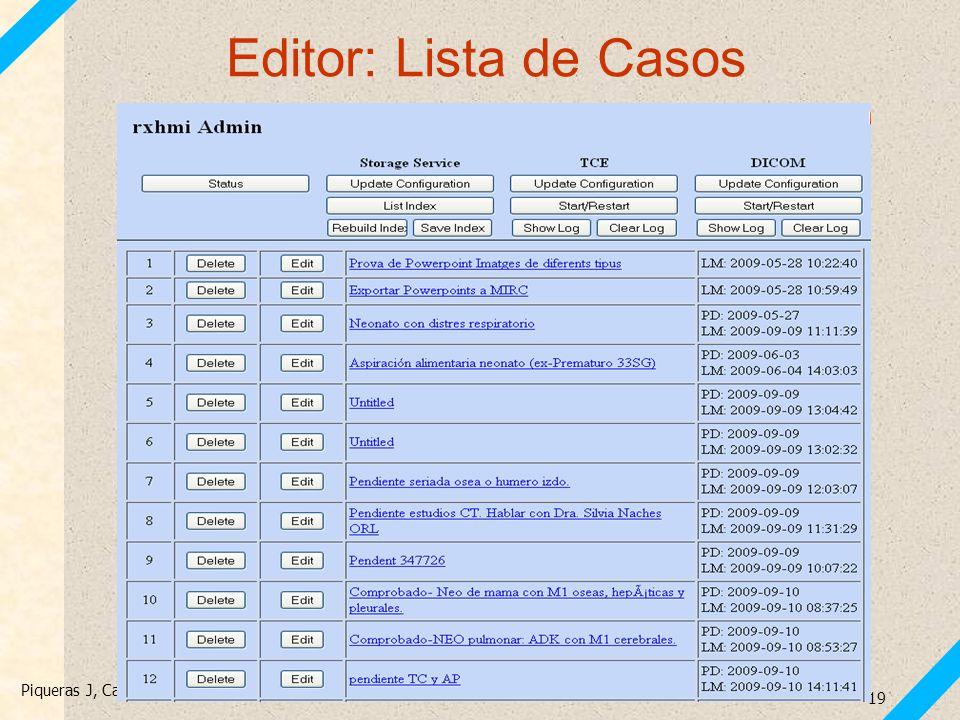 Editor: Lista de Casos