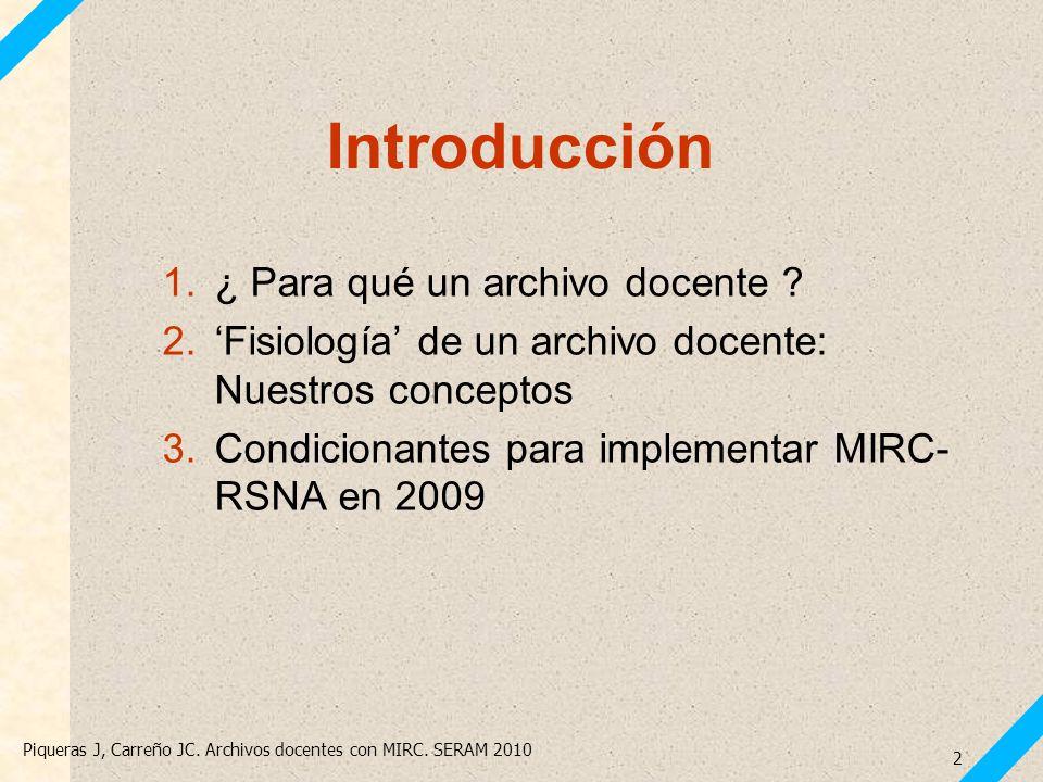 Introducción ¿ Para qué un archivo docente