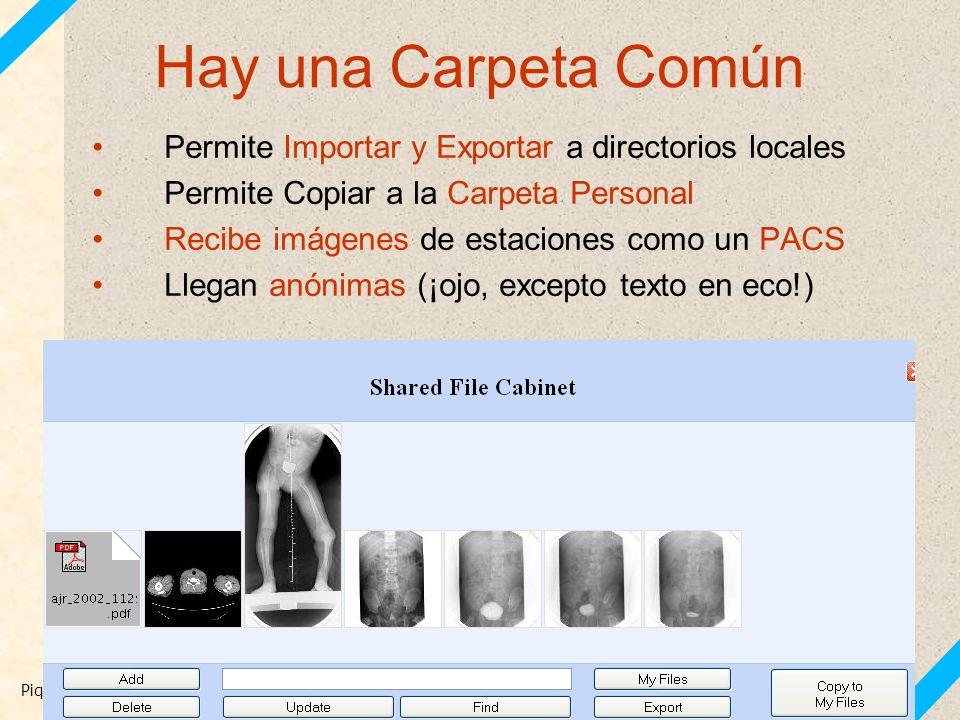 Hay una Carpeta Común Permite Importar y Exportar a directorios locales. Permite Copiar a la Carpeta Personal.