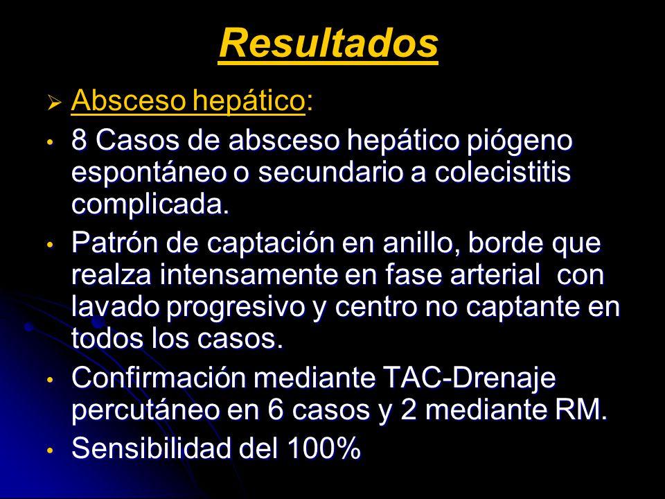 Resultados Absceso hepático: