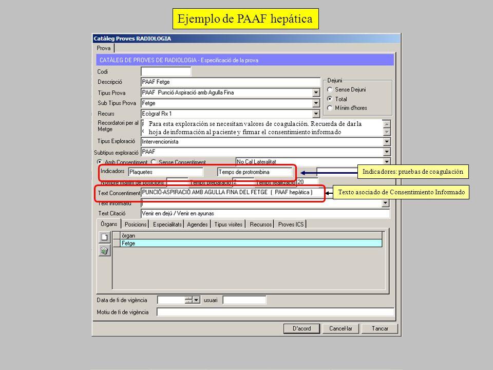 Ejemplo de PAAF hepática