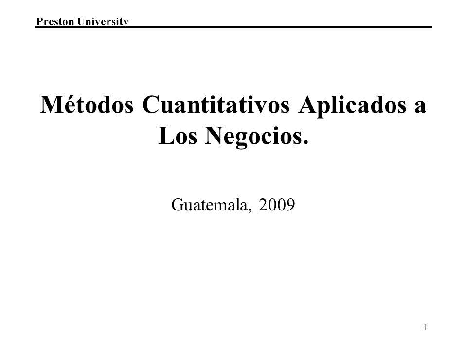 Métodos Cuantitativos Aplicados a Los Negocios.