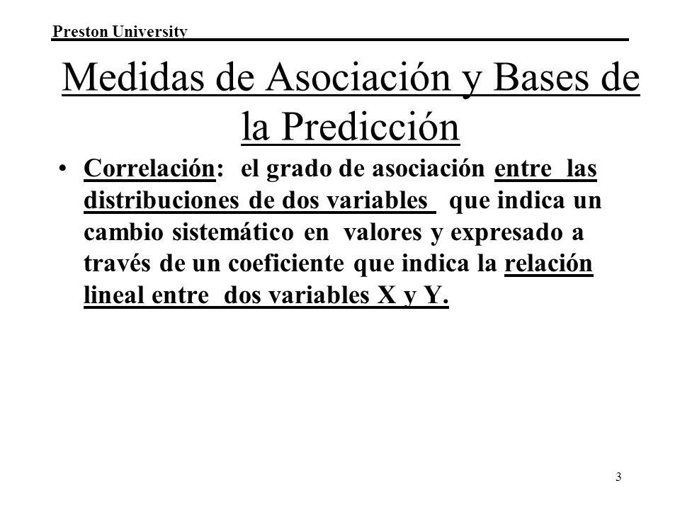 Medidas de Asociación y Bases de la Predicción