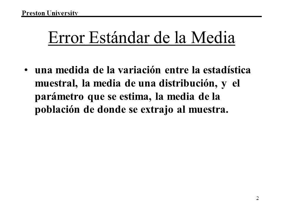 Error Estándar de la Media