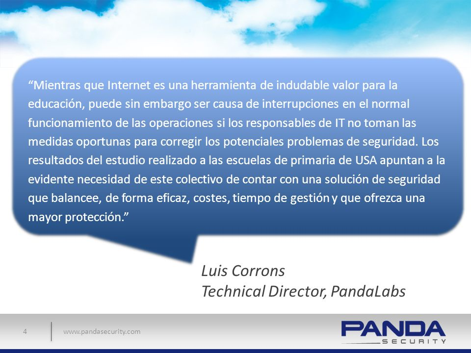 Luis Corrons Technical Director, PandaLabs