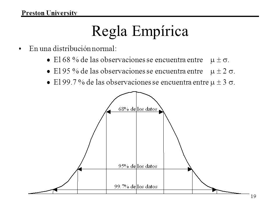 Regla Empírica En una distribución normal:
