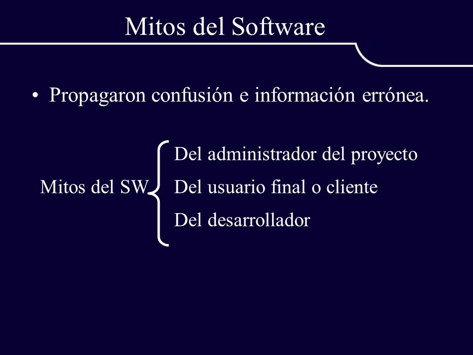 Mitos del Software Propagaron confusión e información errónea.