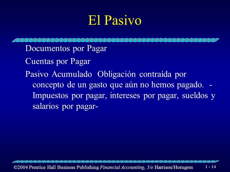 El Pasivo Documentos por Pagar Cuentas por Pagar