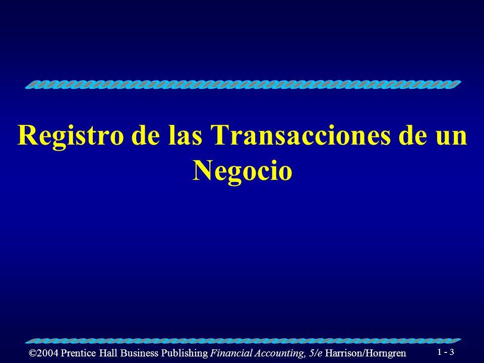 Registro de las Transacciones de un Negocio