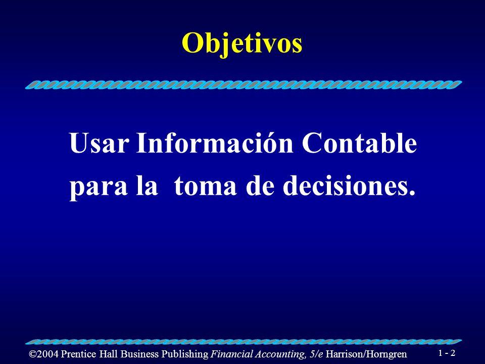 Usar Información Contable para la toma de decisiones.