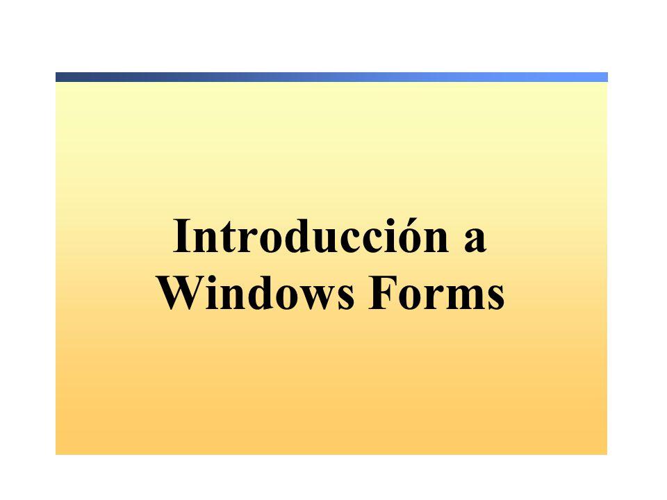 Introducción a Windows Forms