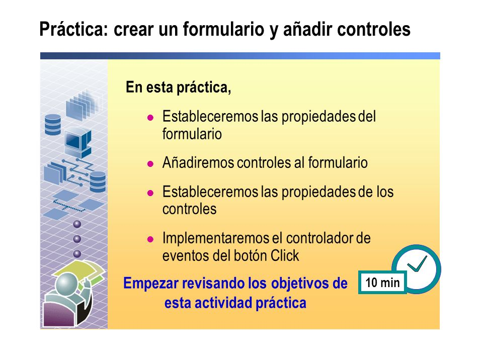 Práctica: crear un formulario y añadir controles