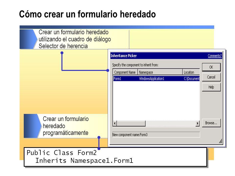 Cómo crear un formulario heredado
