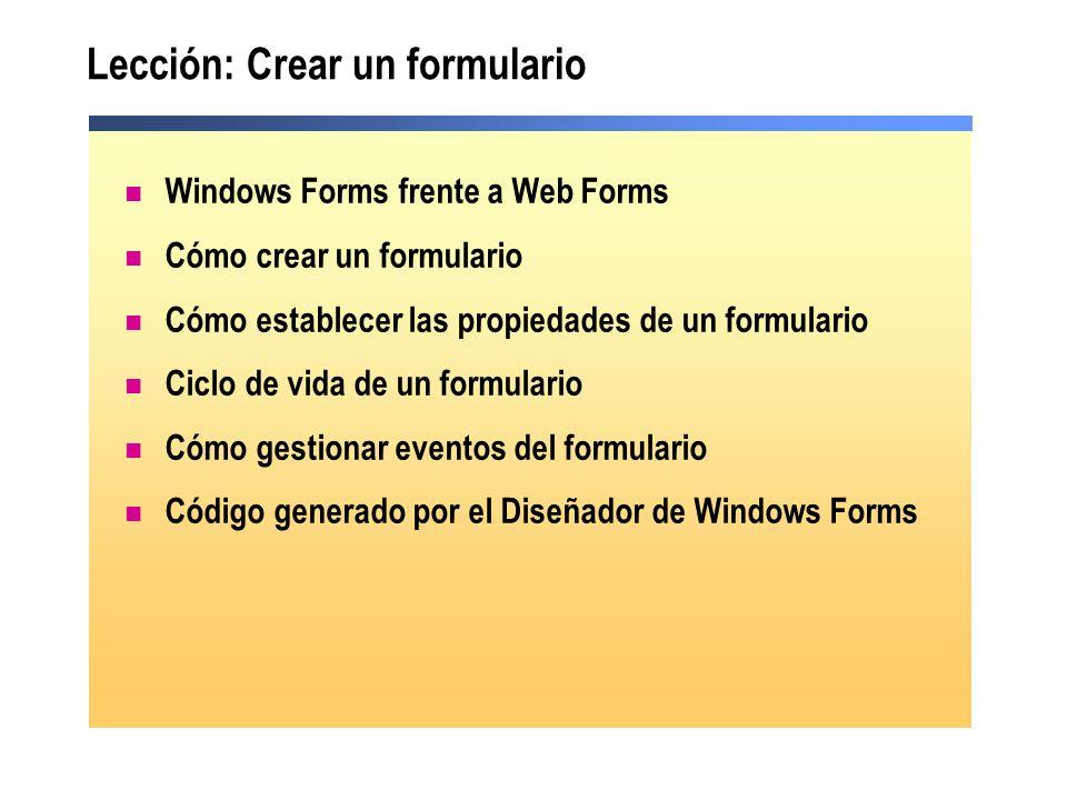 Lección: Crear un formulario