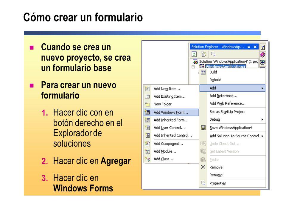 Cómo crear un formulario