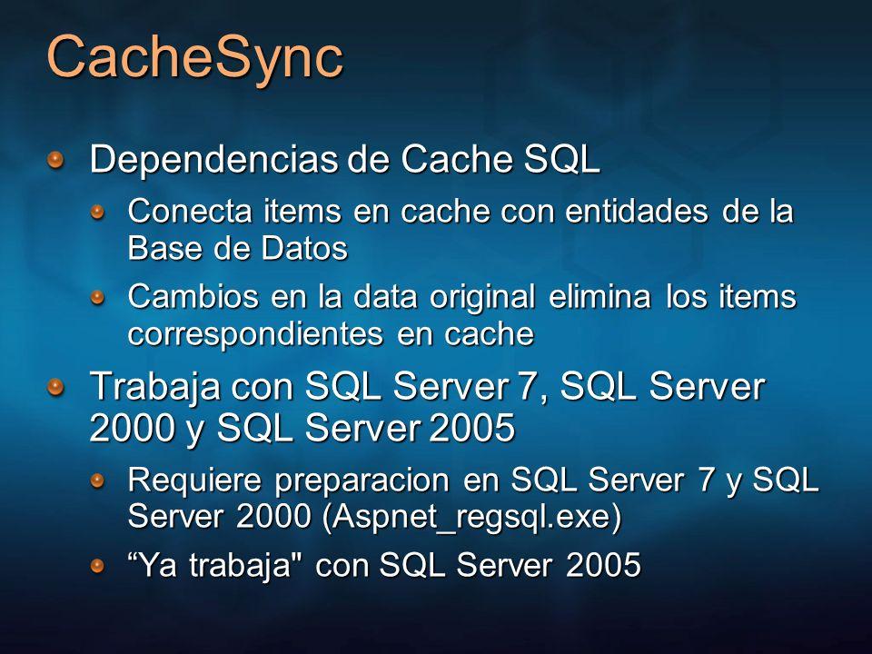 CacheSync Dependencias de Cache SQL