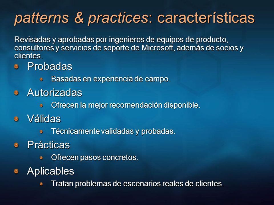 patterns & practices: características