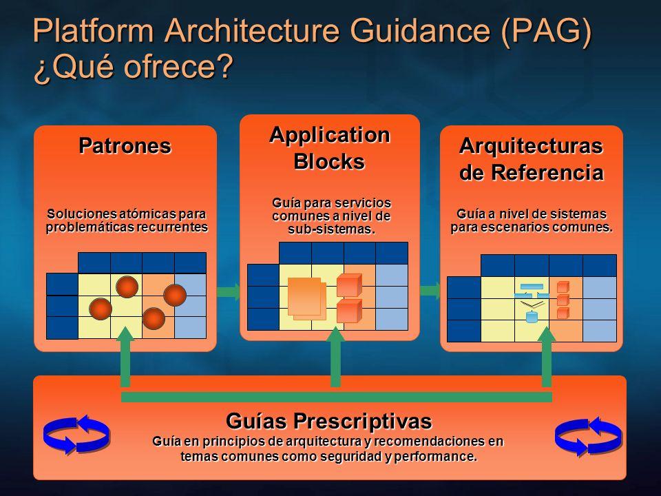 Platform Architecture Guidance (PAG) ¿Qué ofrece