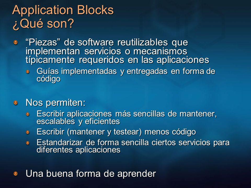 Application Blocks ¿Qué son