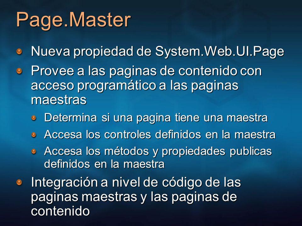 Page.Master Nueva propiedad de System.Web.UI.Page