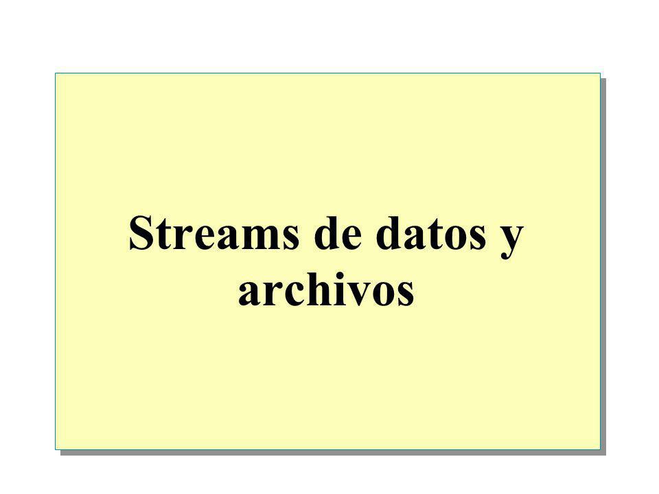 Streams de datos y archivos
