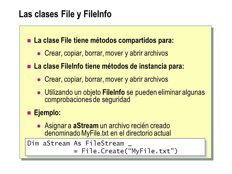 Las clases File y FileInfo