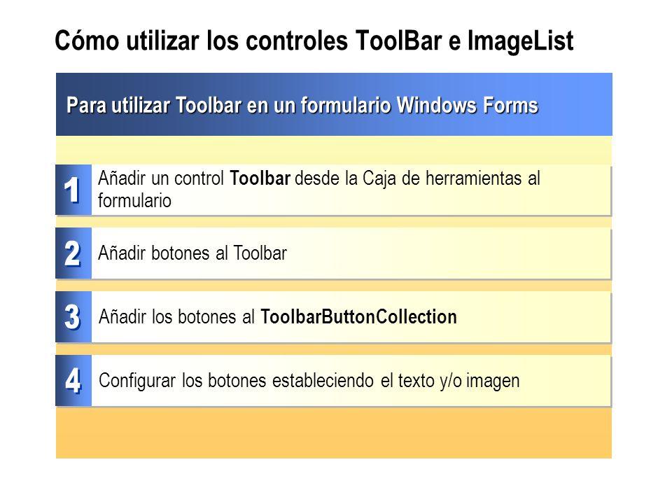 Cómo utilizar los controles ToolBar e ImageList