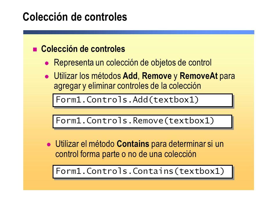 Colección de controles