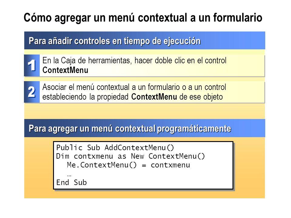 Cómo agregar un menú contextual a un formulario