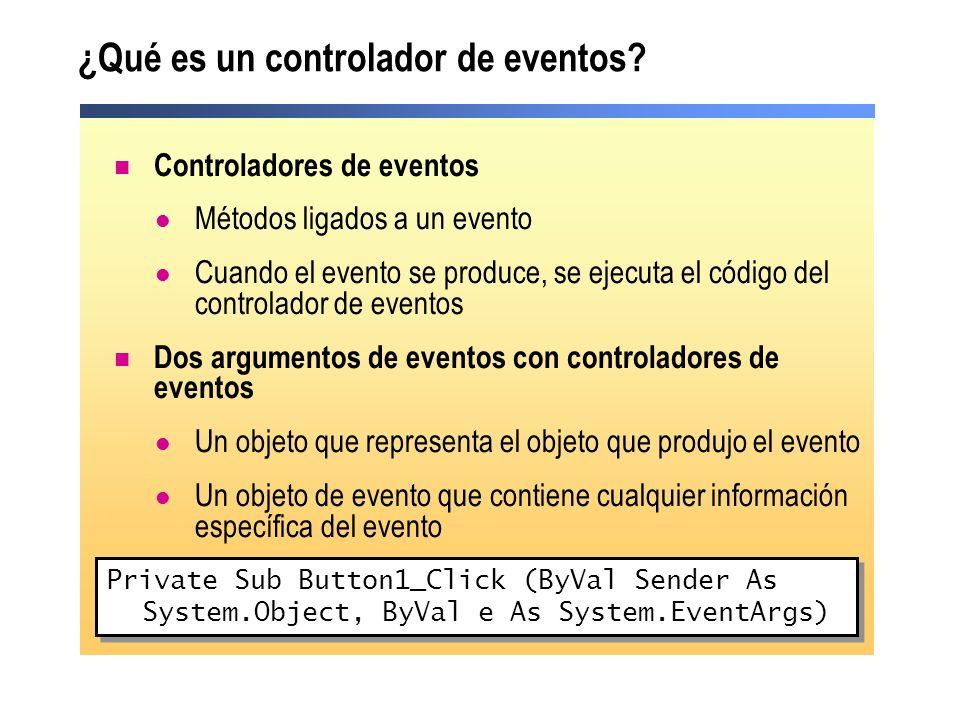 ¿Qué es un controlador de eventos