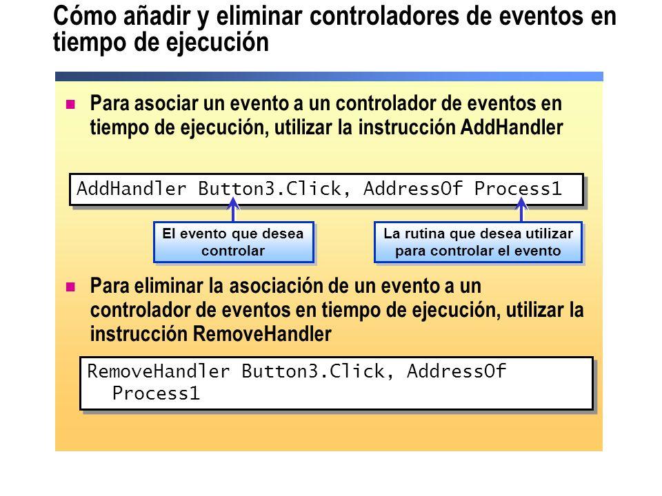 Cómo añadir y eliminar controladores de eventos en tiempo de ejecución