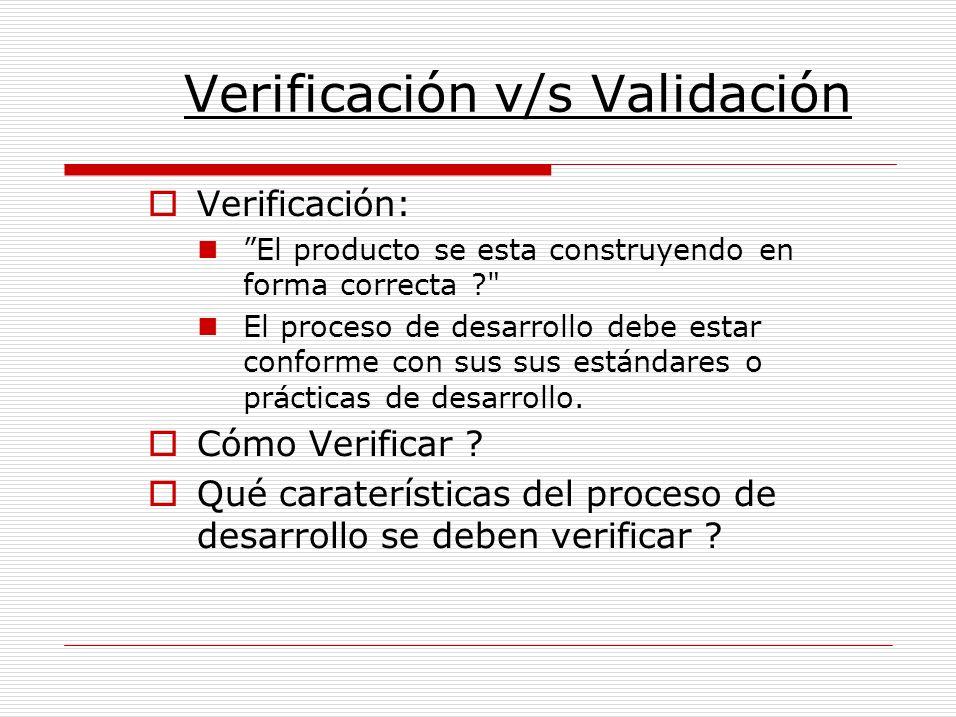 Verificación v/s Validación