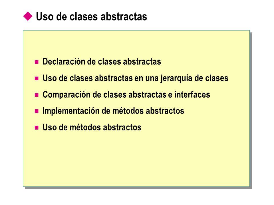Uso de clases abstractas